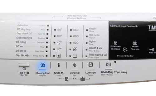 chế độ giặt nước nóng trên máy giặt Electrolux