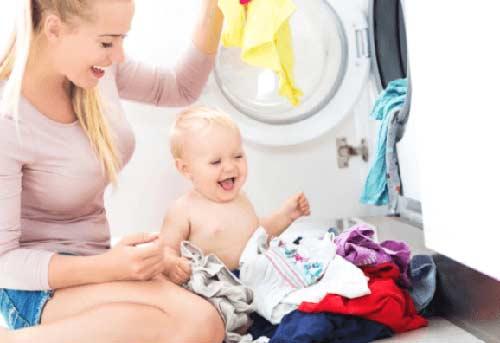 Giặt đồ sơ sinh bằng máy giặt Electrolux