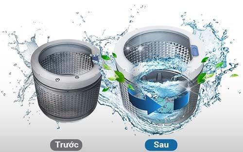 vệ sinh lồng máy giặt Electrolux